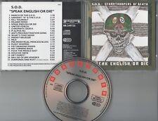S.O.D.  CD  SPEAK ENGLISH OR DIE  ©  1985  ROADRUNNER / NO BARCODE / WIE NEU