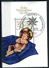 Bloc République fédérale Allemagne Fédéral Feuille No: 17 o 1978 Noël BR804