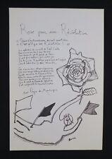 Affiche mai 68 ROSE POUR UNE REVOLUTION par Pieyre de Mandiargues poster 1968