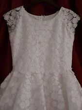 Joan Calabrese designer Communion Dress Lace Floral White 12 regular