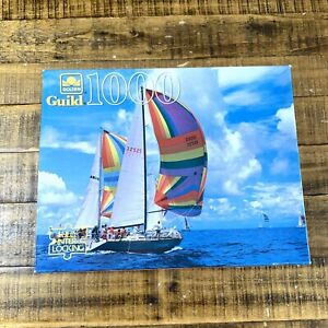 Golden Guild Sailing Boats Puzzle Jigsaw Vintage 1000 Pieces 21.5 x 27.5 Sealed