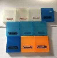 Lot Of 10 Nintendo NES Hard Plastic Clam Shells Cases OEM Multi Colours