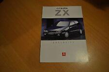 CATALOGUE Citroën ZX Exclusive de 1995