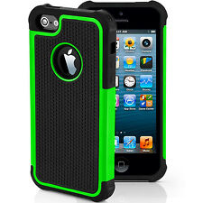 Armor Shockproof Silicone Case Cover Hybrid Heavy Duty for Apple iPhone 7 6 Plus iPhone 5 5s Green