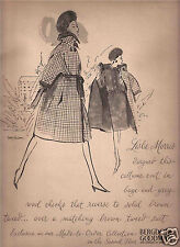60's EM Larson Illustrated Bergdorf Goodman & I. Magnin  Ads  1963