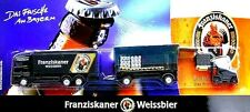 Ho 1:87 Franziskaner Munich Wheat Beer Truck Actros Truck + Bar Car + Forklift