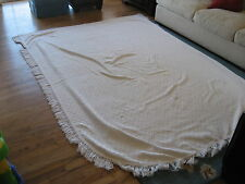 VINTAGE CHENILLE BEDSPREAD SIGNED MONA LISA NORMANDIE TWIN SIZE