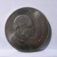 Uk/Great Britain-large 1965 Churchill Crown; commemorative 5 Shillings; nice Au