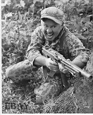 Mickey Rooney w/machine gun VINTAGE Photo Ambush Bay