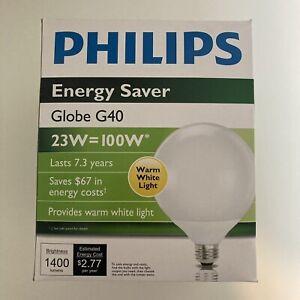 Phillips CFL Globe EL/A G40 120v 23W