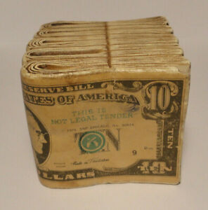 Vintage old Ceramic Coin Bank:  Bundels of $10.00 Item 510T