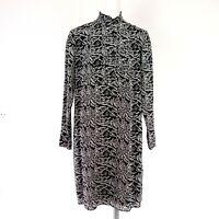 Set Elegantes Damen Kleid Tunikakleid Reine Seide Schwarz Weiß Muster Np 229 Neu