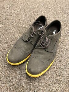 Timberland Wingtip Dress Shoes Mens Size 12M Brown Suede K-113
