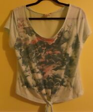MUDD Shirt with Sheer Back - Women's/Junior's Size Small