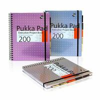 Pukka Pad A4 A5 Executive Project Book 200 Pages 8mm Ruled Lines 80GSM Paper