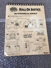 Vintage 1984 Kenner Hall Of Justice Instructions Foreign Issue Look