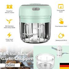 Küche Elektrisch Zerkleinerer Mini Knoblauchhacker Obst Zwiebelschneider 250ml