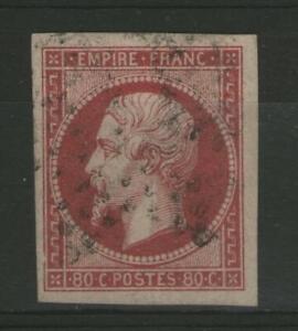 FRANCE:  n°17Aa (carmin clair) oblitéré   (cote 70€)