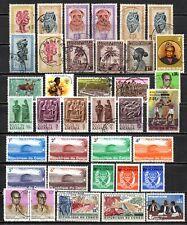 Anciennes colonies - lot de timbres oblitérés  - avec charnière - bon lot.