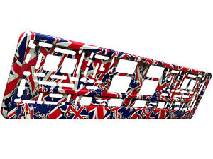 UNION JACK FLAG 3D TUNING Car Number Plate Surround Holder FOR ANY CAR TRUCK VAN