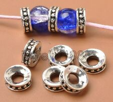 50pcs Tibetan Silver Bracelet Crafts Finding Jewelery Charms Spacer Beads F3365
