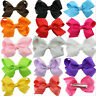 20Pcs Baby Girls Kids Grosgrain Ribbon Boutique Hair Bows Alligator Clips