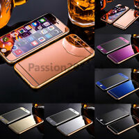 Colored Mirror Tempered Glass Film Screen Protector For iPhone 5 5s 6 6s 7 Plus