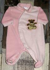 86a30b0510b77 Pyjama en velours rose brodé KIABI fille 1 mois 54cm ~ MAN369
