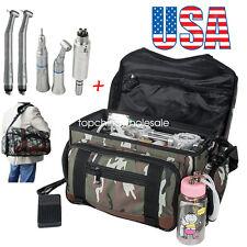 Portable Bag Dental Turbine Unit Air Compressor +Syringe +High Low Handpiece Kit