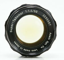 Pentax Super-Takumar 50mm f/1.4 Prime Lens for M42 Screwmount Stiff Focus