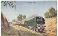 """""""The Devon Belle"""", Hauled By West Country No 34001 PPC By Photochrom, Unused"""