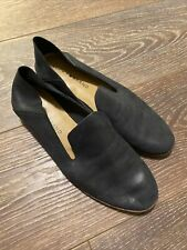 Lucky Brand Women's Cahill Black Leather Almond Toe Loafer Flats Sz 6.5