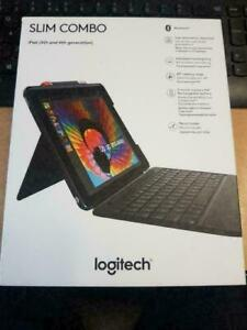 Logitech Slim Combo iPad Case, Backlit Bluetooth Keyboard for iPad 5th & 6th Gen