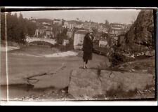 LOURDES (65) Photo Amateur / BORDS du GAVE animé & VILLAS en 1927