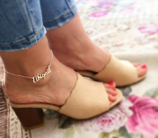 Fashion Gift Gold Silver Rose Gold Custom Name Anklet Jewelry Women Personalized