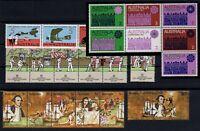 P125726/ AUSTRALIA STAMPS / 1969 – 1977 LOT OF STRIPS / MNH** CV 110 $