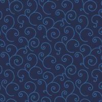 Maywood Studio Scroll Navy Blue BTY MAS8243-NB fabric