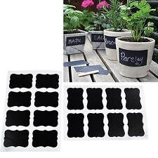 16Pcs Label Blackboard Chalkboard Stickers Garden Craft Decor