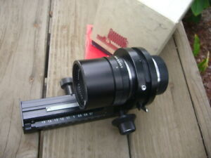 Leica 100mm F/4 Macro Bellows Lens 11230 W/ 16860 Focusing Bellows,MINTY