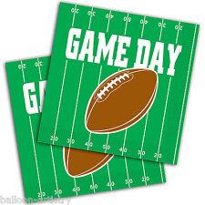 16 juego de fútbol americano Día Fiesta Verde 2ply 33cm papel Almuerzo Servilletas