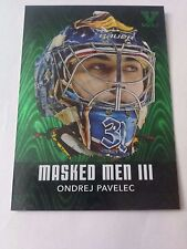 Ondrej Pavelec ITG Vault 2010-11 ITG Between the Pipes Masked Men III Emerald