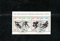 Bund 1971 Deutschland BRD Olympische Spiele Block 6 Mi Nr 684 - 687 ESST 53 BONN