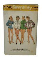 1973 Simplicity 5746 Vintage Sewing Pattern Womens Bodysuit Size 12 UNCUT