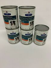 Hill's Prescription Diet WET Dog Food w/d Digestive / Weight Glucose mgmt 5 cans