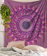Indian Paisley Mandala Tapestry Hippie Wall Hanging Bedspread Queen Size Throw