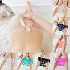 Women Open Lace Panties Sexy G-string Thongs Briefs Underwear Lingerie Knickers