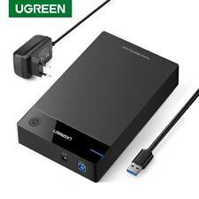 "Ugreen 3.5"" HDD Case Enclosure SATA to USB 3.0 Hard Disk Box fr 2.5 3.5"" SSD 8TB"