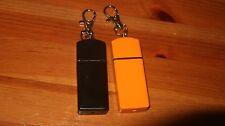 2x Aluminum Mini Portable Ashtray Push-pull Pocket Travel Gift Orange+Black -