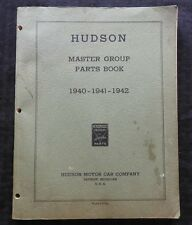 1940 1941 1942 HUDSON SIX TRAVELERS DELUXE SUPER COUNTRY CLUB BIG BOY PARTS BOOK
