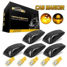 Partsam 5X Smoke Cab Marker Light Assembly T10 W5W Amber LED Bulb Wiring Pack Compatible with Ford F150 F250 F350 1999-2016 Super Duty Pickup Trucks